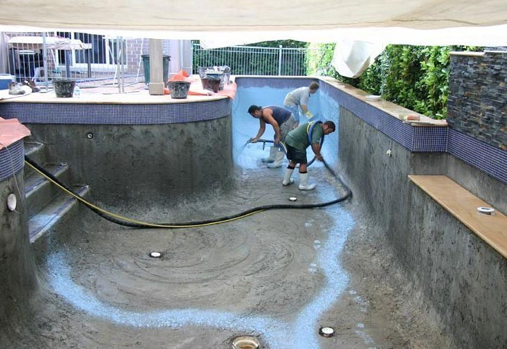 pool construction timeline